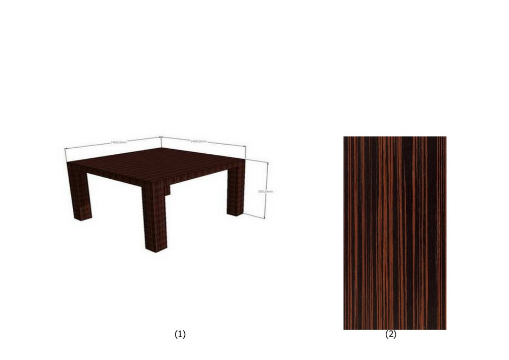 table de s jour placage b ne armoni concept. Black Bedroom Furniture Sets. Home Design Ideas